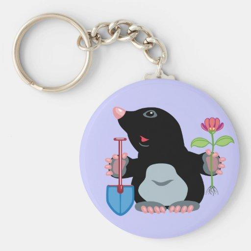 cartoon mole key chain