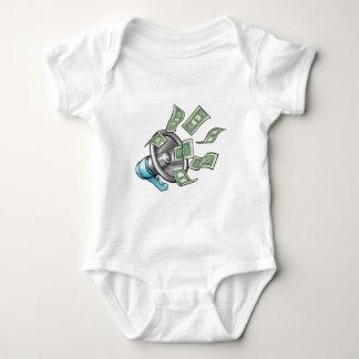 Cartoon Money Megaphone Concept Baby Bodysuit