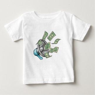 Cartoon Money Megaphone Concept Baby T-Shirt