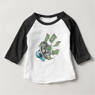 Cartoon Money Megaphone Concept Baby T-Shirt