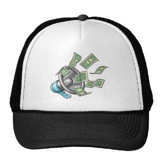 Cartoon Money Megaphone Concept Cap