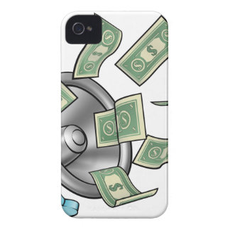 Cartoon Money Megaphone Concept iPhone 4 Covers