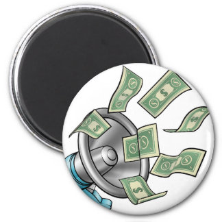 Cartoon Money Megaphone Concept Magnet