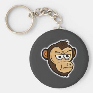 Cartoon Monkey Basic Round Button Key Ring