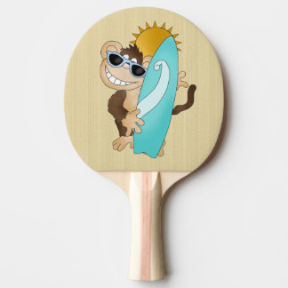 cartoon monkey beach ping pong paddle