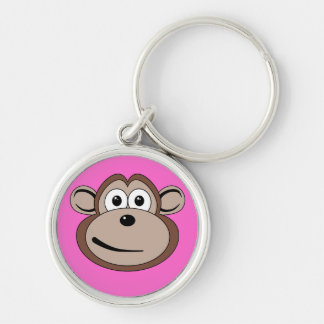 Cartoon Monkey Face Keychain
