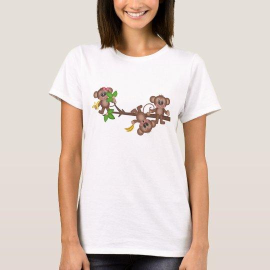 Cartoon Monkey fun womens t-shirt