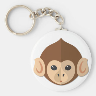 Cartoon Monkey Head Key Chain