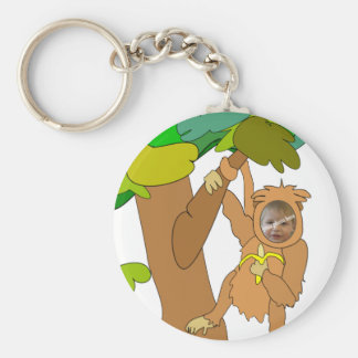 Cartoon Monkey in a Tree Custom Photo Keychain