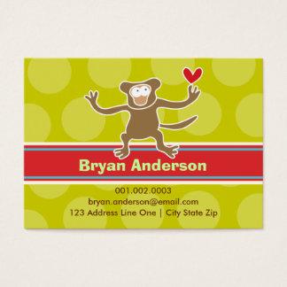 Cartoon Monkey Kid Photo Profile / Name Card