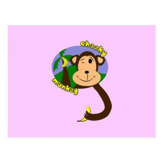 Cartoon Monkey Postcard