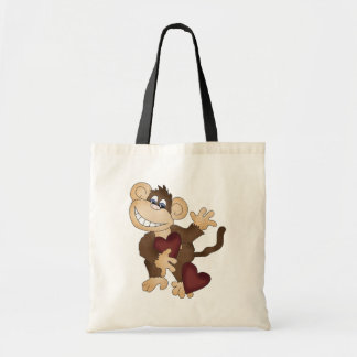 Cartoon Monkey Valentines Tote bag