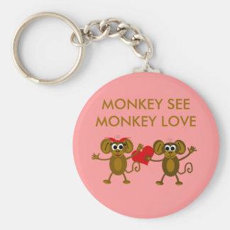 Cartoon Monkeys Keychain