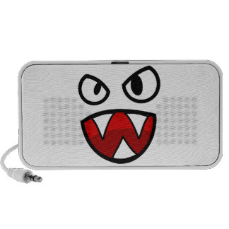 Cartoon Monster Eyes and Mouth with Sharp Teeth Speaker System