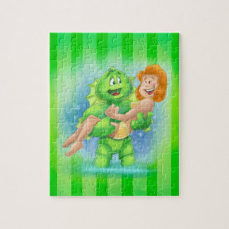 cartoon monster in the lagoon jigsaw puzzles