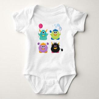 Cartoon Monsters Baby Bodysuit
