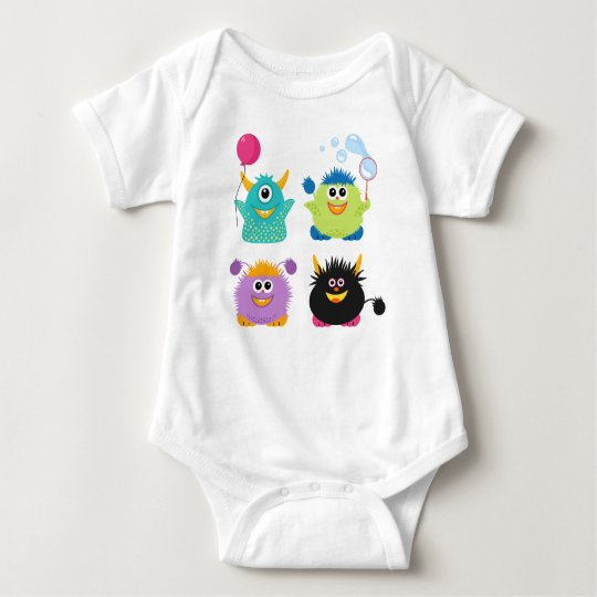 Cartoon Monsters Baby Bodysuit