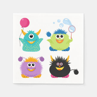 Cartoon Monsters Paper Napkin