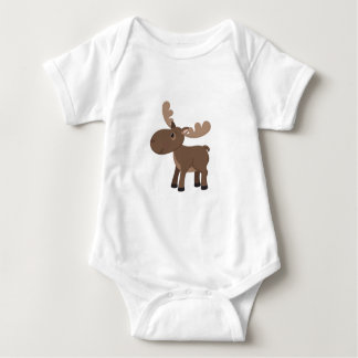 Cartoon Moose Baby Bodysuit