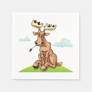 Cartoon Moose Paper Napkins Disposable Napkin