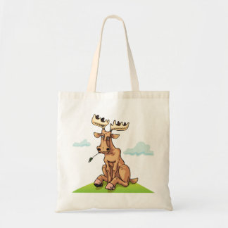 Cartoon Moose Tote Bag