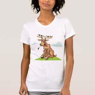Cartoon Moose Womens T-Shirt