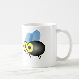 Cartoon Mosquito - White Coffee Mug
