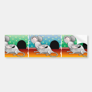 Cartoon Mouse Design Bumper Sticker