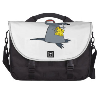 Cartoon Mouse with Cheese Laptop Computer Bag