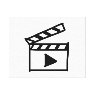 Cartoon Movie Clapperboard Gallery Wrapped Canvas