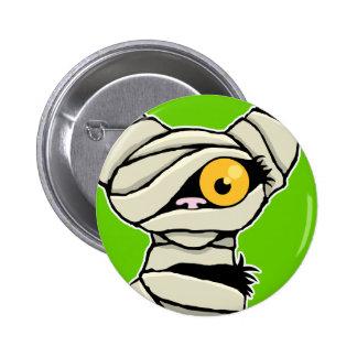 Cartoon Mummy Cat | Halloween Novelty 6 Cm Round Badge
