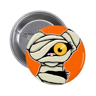 Cartoon Mummy Cat | Halloween Novelty Pinback Buttons