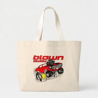Cartoon Muscle Car Blown Away Jumbo Tote Bag