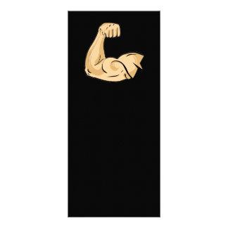 CARTOON MUSCLES MAN strong arm biceps athletic pow Rack Card