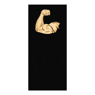 CARTOON MUSCLES MAN strong arm biceps athletic pow Full Color Rack Card
