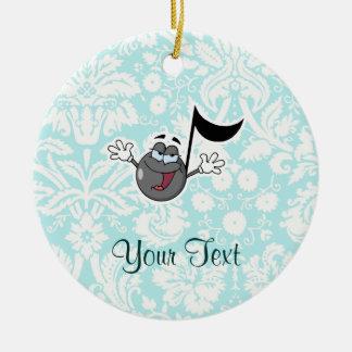 Cartoon Music Note; Cute Round Ceramic Decoration