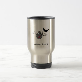 Cartoon Music Note; Grunge Background Travel Mug