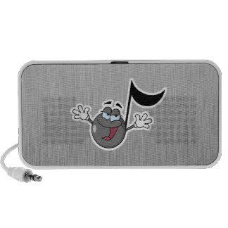 Cartoon Music Note Travelling Speakers