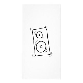Cartoon Music Speaker Photo Greeting Card