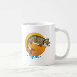 Cartoon Muskie Coffee Mug