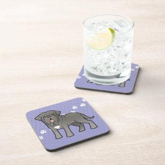 Cartoon Neapolitan Mastiff Beverage Coasters