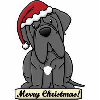 Cartoon Neapolitan Mastiff Christmas Ornament Photo Sculpture Decoration