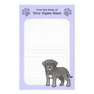 Cartoon Neapolitan Mastiff Custom Stationery