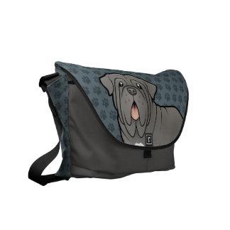 Cartoon Neapolitan Mastiff Messenger Bag