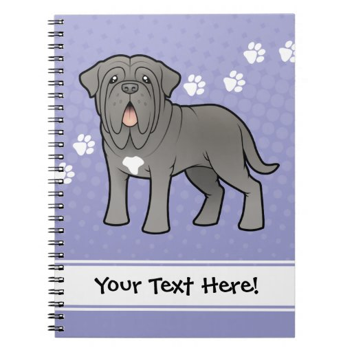 Cartoon Neapolitan Mastiff Notebooks