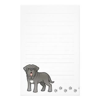 Cartoon Neapolitan Mastiff Personalised Stationery