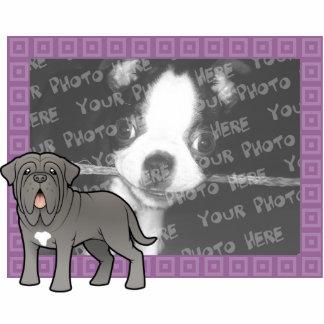 Cartoon Neapolitan Mastiff Photo Sculpture Magnet