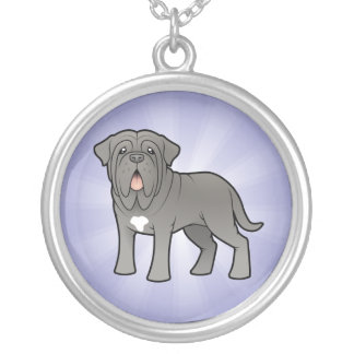 Cartoon Neapolitan Mastiff Silver Plated Necklace