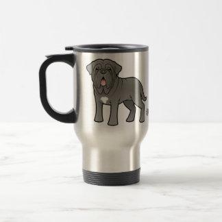 Cartoon Neapolitan Mastiff Travel Mug