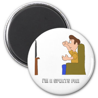 Cartoon NFL NBA NHL And Fan 6 Cm Round Magnet